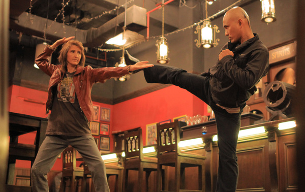 Big Mistake! The Rock Chick is a Kung Fu Master and fights the bad guys on stage.